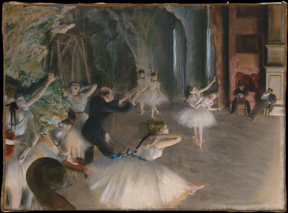 Edgar Degas The Ballet Rehearsal On Stage, Canvas, Edgar Degas, kanvas tablo, canvas print sales
