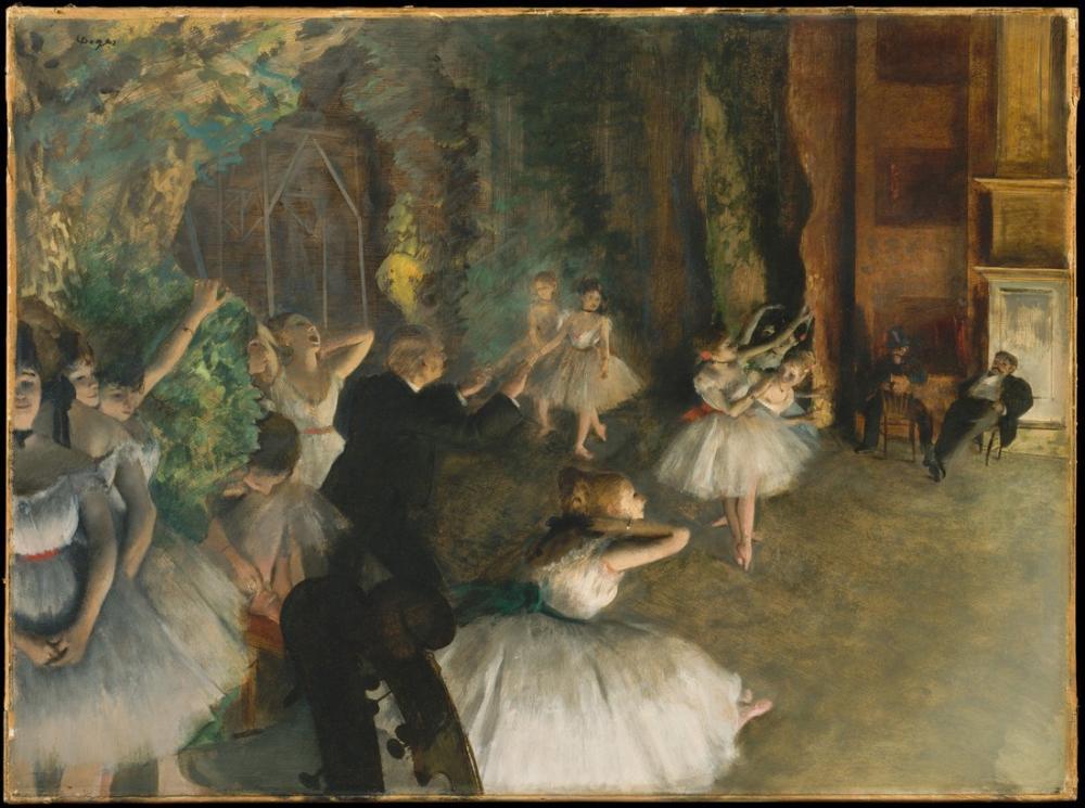 Edgar Degas Sahnede Bale Provası II, Kanvas Tablo, Edgar Degas, kanvas tablo, canvas print sales