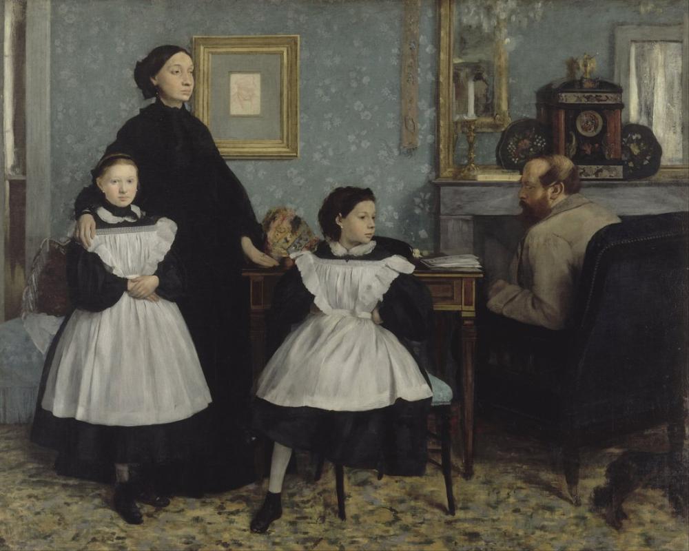 Edgar Degas The Bellelli Family, Canvas, Edgar Degas, kanvas tablo, canvas print sales