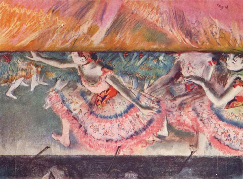 Edgar Degas Perde Düşüyor, Kanvas Tablo, Edgar Degas, kanvas tablo, canvas print sales