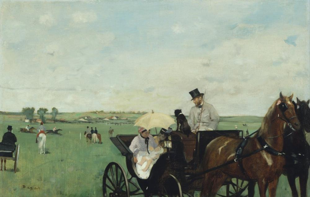 Edgar Degas, Kırsal Kesimdeki Yarışlarda, Kanvas Tablo, Edgar Degas, kanvas tablo, canvas print sales