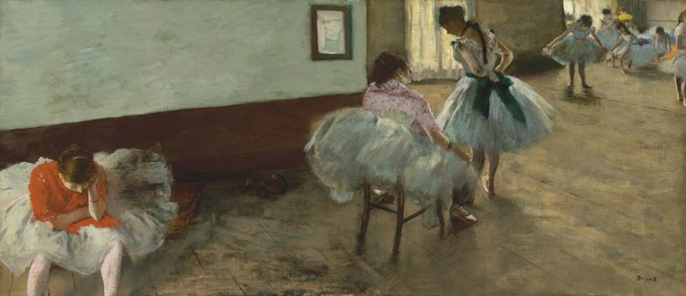 Edgar Degas The Dance Lesson Painting, Canvas, Edgar Degas, kanvas tablo, canvas print sales