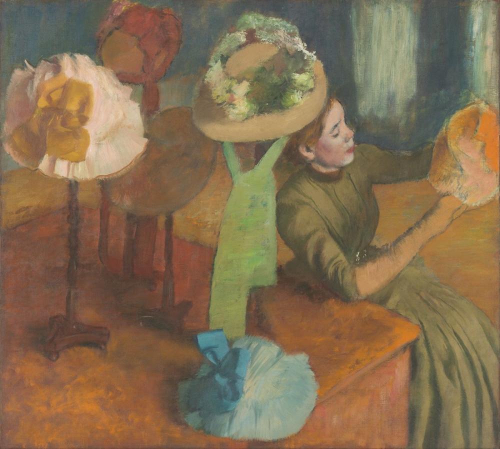 Edgar Degas The Millinery Shop, Canvas, Edgar Degas, kanvas tablo, canvas print sales