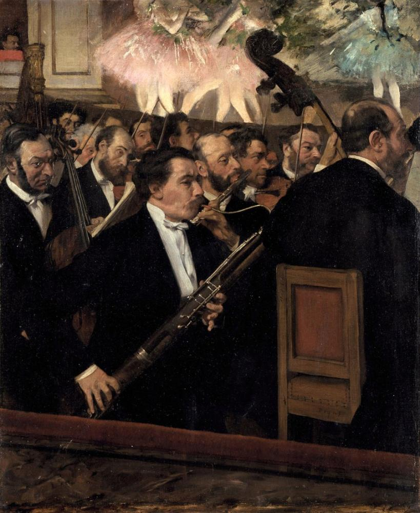 Edgar Degas The Orchestra At The Opera, Canvas, Edgar Degas, kanvas tablo, canvas print sales