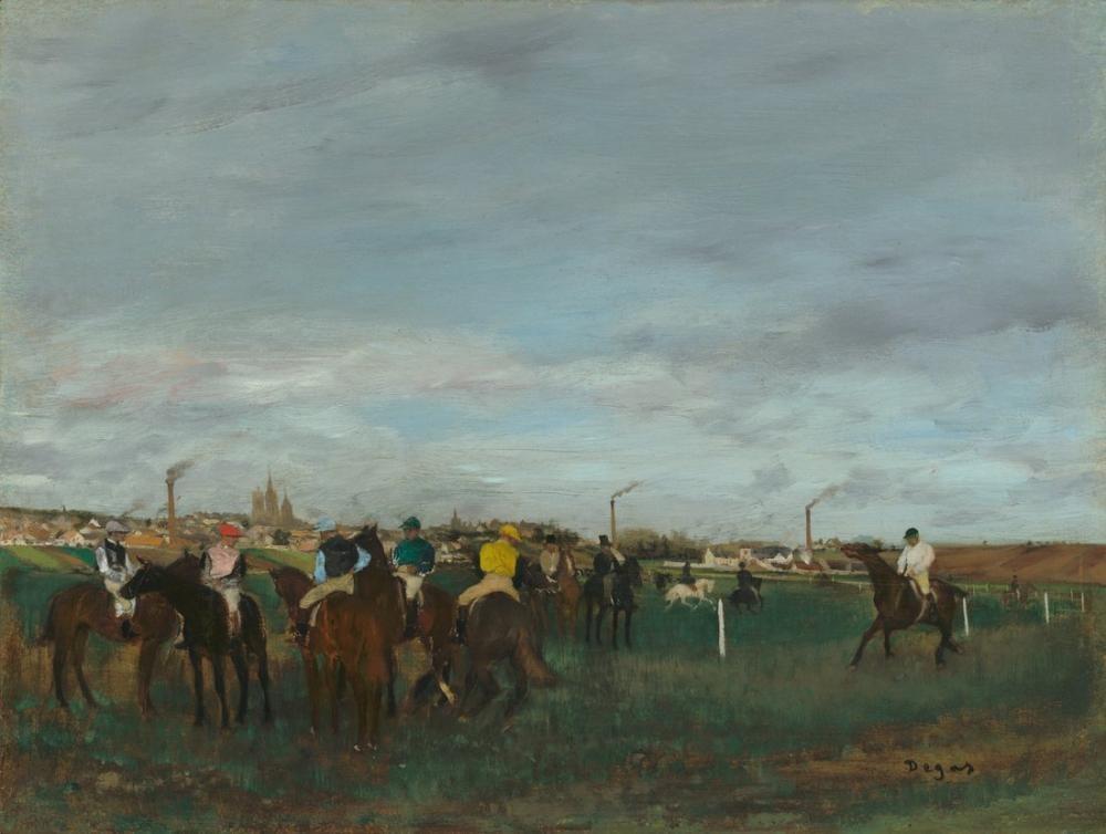 Edgar Degas Yarışlar A, Kanvas Tablo, Edgar Degas, kanvas tablo, canvas print sales