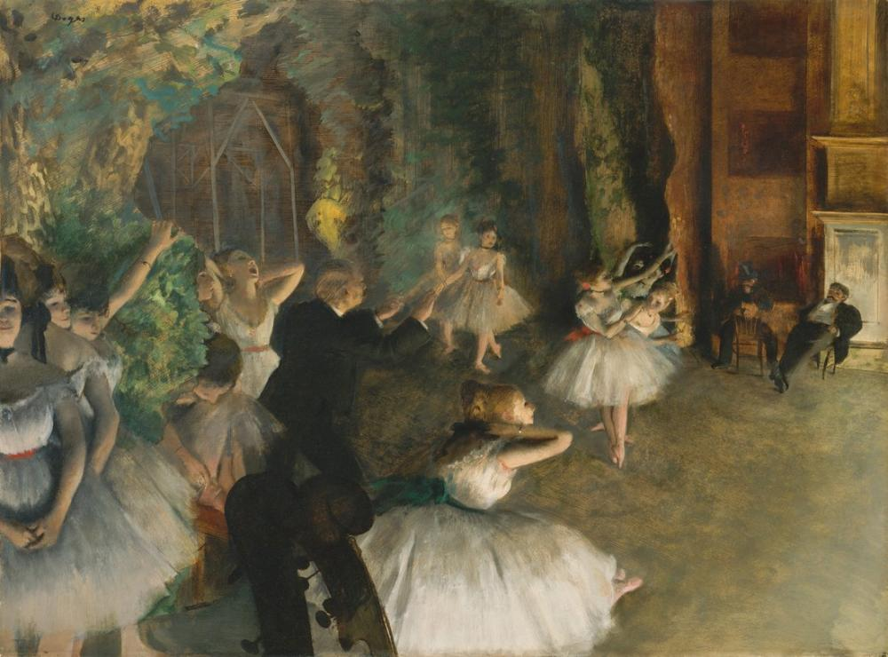 Edgar Degas The Rehearsal Of The Ballet Onstage Trivium History, Canvas, Edgar Degas, kanvas tablo, canvas print sales