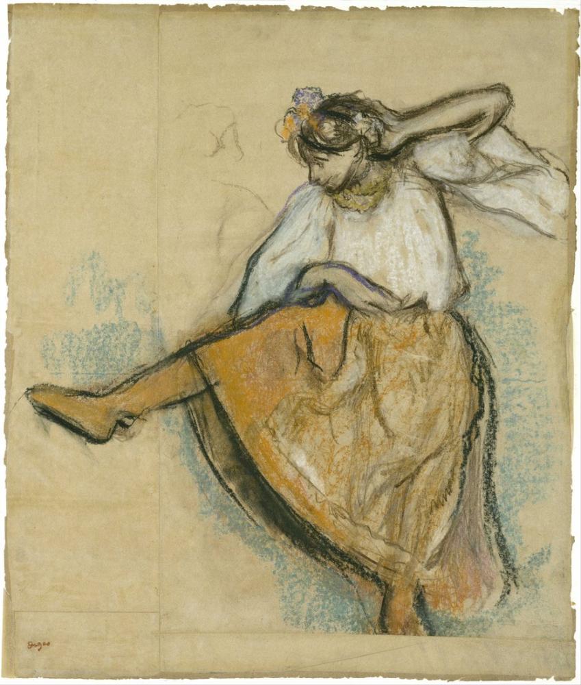 Edgar Degas Rus Dansçı, Kanvas Tablo, Edgar Degas, kanvas tablo, canvas print sales