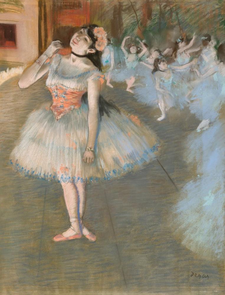 Edgar Degas The Star II, Canvas, Edgar Degas, kanvas tablo, canvas print sales
