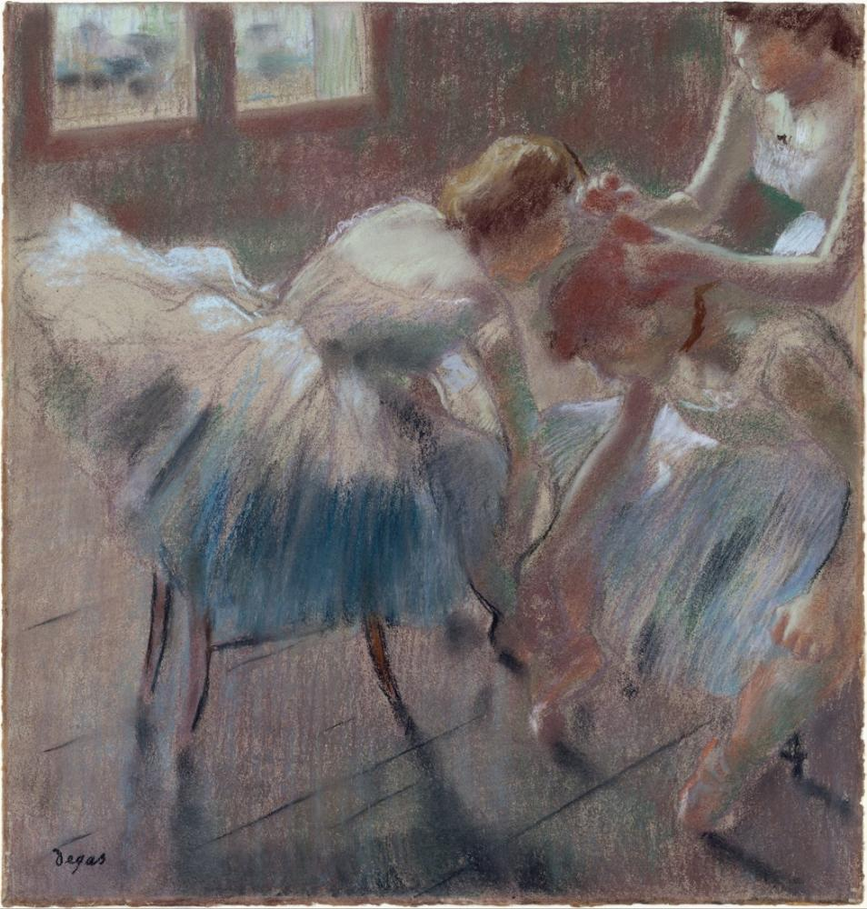 Edgar Degas Three Dancers Preparing For Class DT, Canvas, Edgar Degas, kanvas tablo, canvas print sales