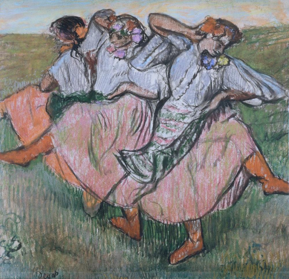 Edgar Degas Üç Rus Dansçı, Kanvas Tablo, Edgar Degas, kanvas tablo, canvas print sales