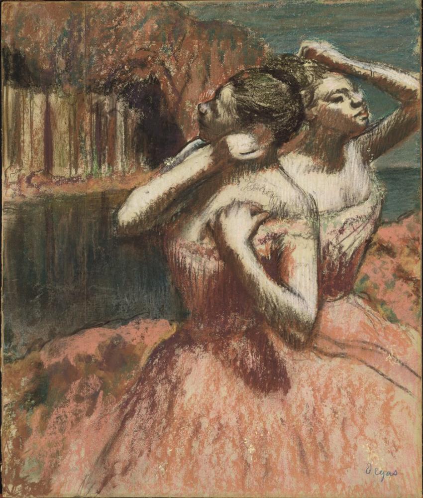 Edgar Degas Two Dancers, Canvas, Edgar Degas, kanvas tablo, canvas print sales