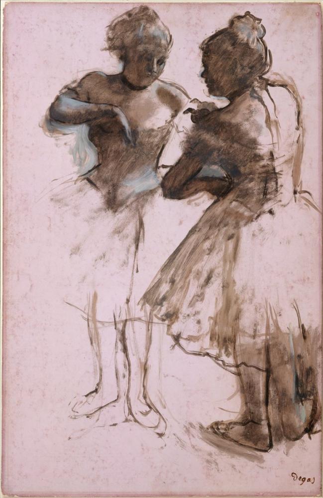 Edgar Degas İki Dansçı II, Kanvas Tablo, Edgar Degas, kanvas tablo, canvas print sales