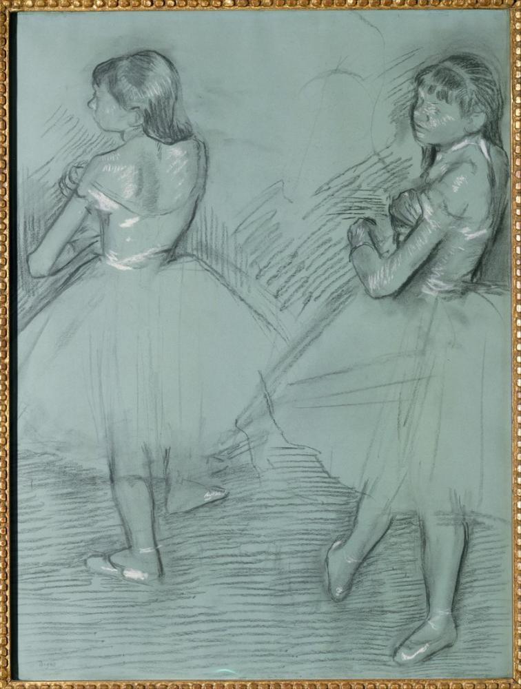 Edgar Degas İki Dansçı III, Kanvas Tablo, Edgar Degas, kanvas tablo, canvas print sales