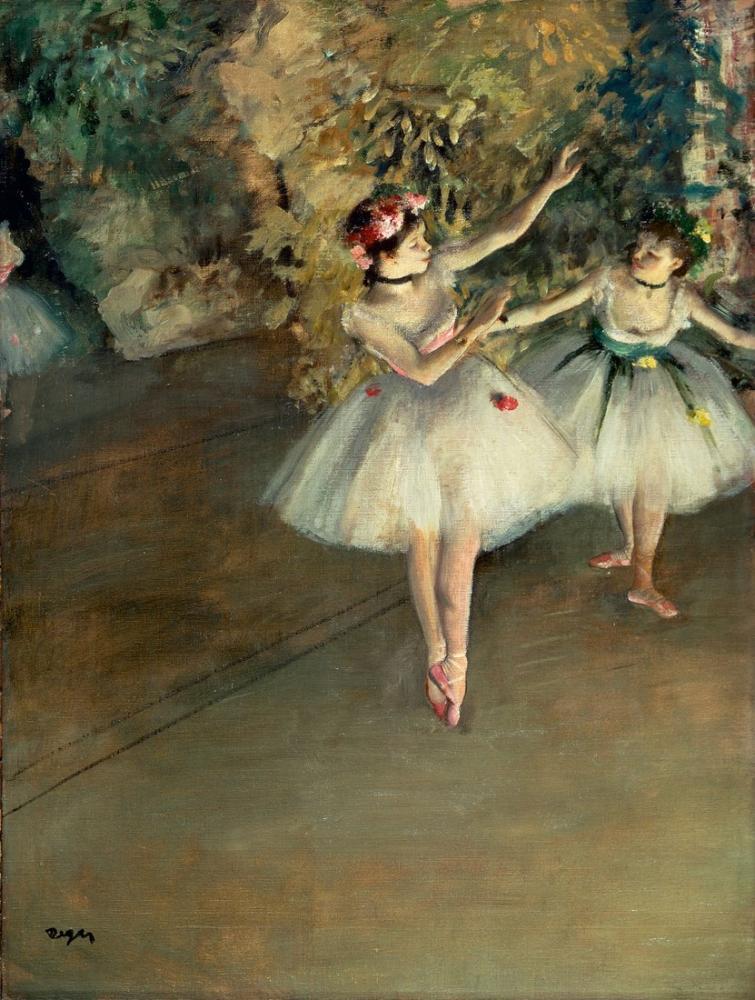 Edgar Degas Trivium Tarihi İki Dansçı, Kanvas Tablo, Edgar Degas, kanvas tablo, canvas print sales