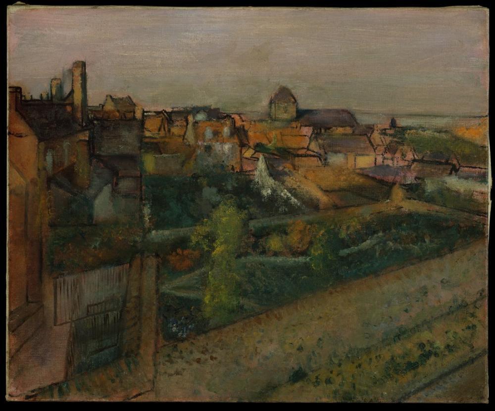 Edgar Degas Manzara Saint Valery Somme DT, Kanvas Tablo, Edgar Degas, kanvas tablo, canvas print sales
