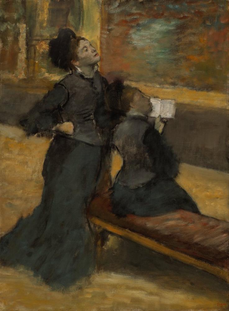Edgar Degas Müzeye Ziyaret, Kanvas Tablo, Edgar Degas, kanvas tablo, canvas print sales