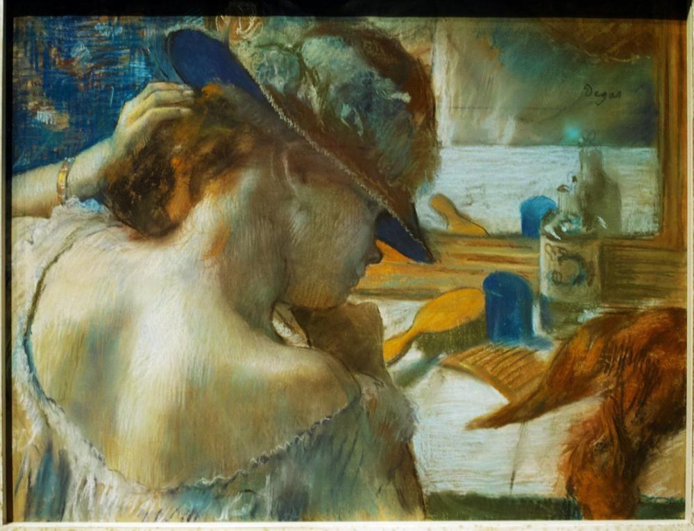 Edgar Degas Aynanın Önünde, Kanvas Tablo, Edgar Degas, kanvas tablo, canvas print sales