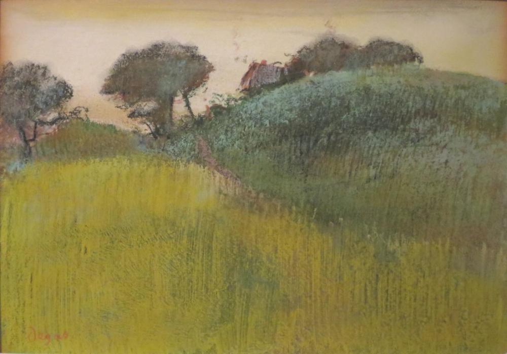 Edgar Degas Buğday Tarlası ve Green Hill Norton Simon Müzesi, Kanvas Tablo, Edgar Degas, kanvas tablo, canvas print sales