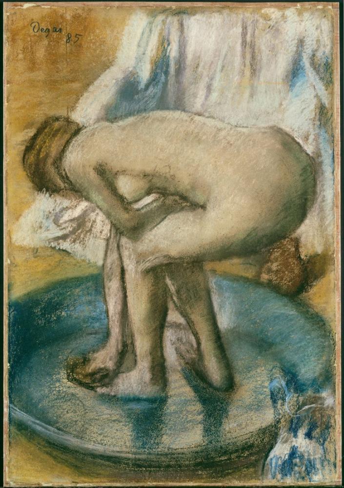 Edgar Degas Woman Bathing In A Shallow Tub DT, Canvas, Edgar Degas, kanvas tablo, canvas print sales