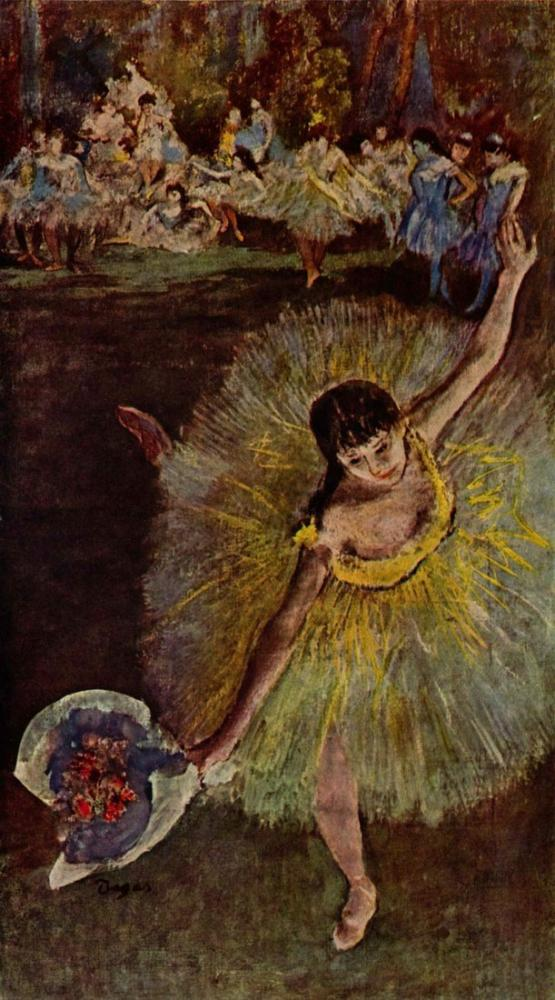 Edgar Degas Ballerina Con Mazzo Di Fiori, Canvas, Edgar Degas, kanvas tablo, canvas print sales