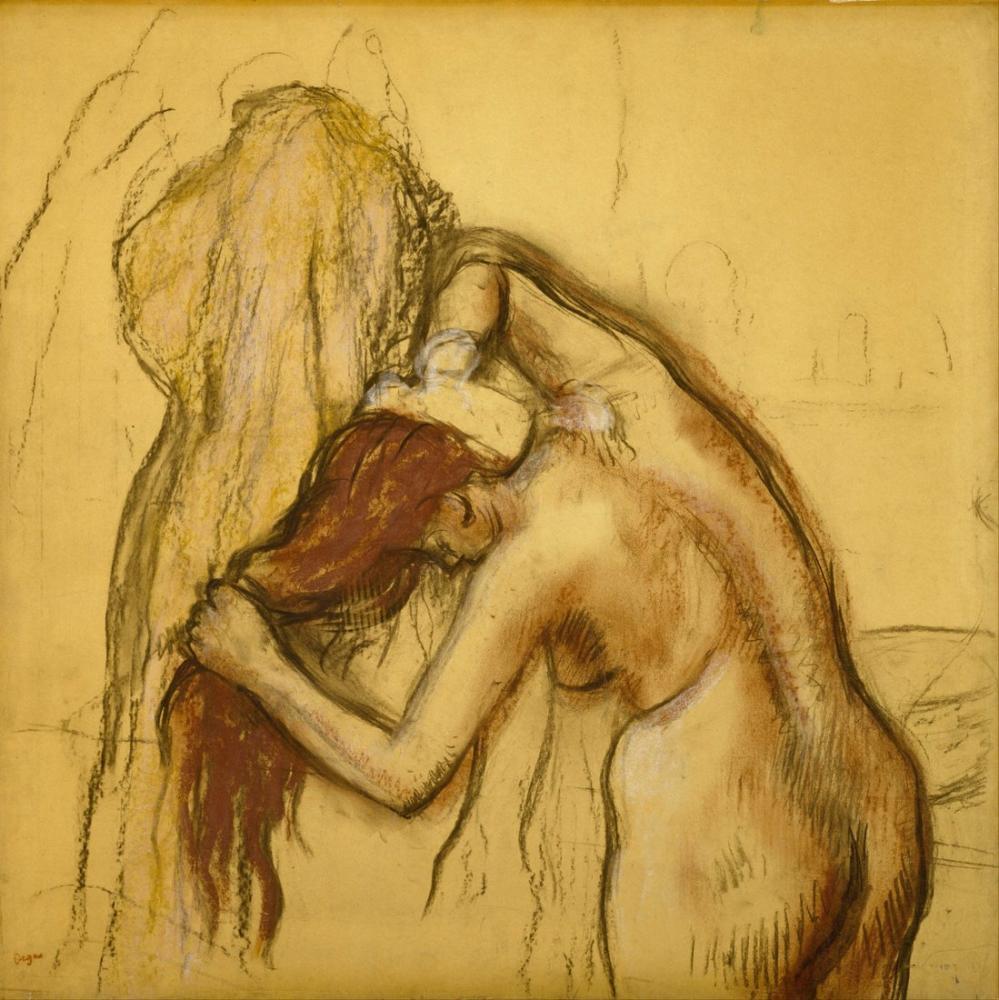 Edgar Degas Kendini Kurutan Kadın, Kanvas Tablo, Edgar Degas, kanvas tablo, canvas print sales