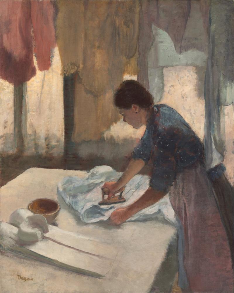Edgar Degas Kadın Ütüleme, Kanvas Tablo, Edgar Degas, kanvas tablo, canvas print sales