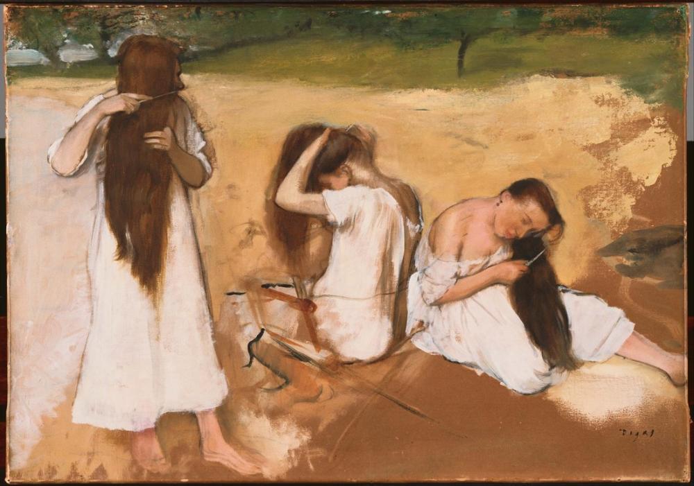 Edgar Degas Woman Combing Their Hair, Canvas, Edgar Degas, kanvas tablo, canvas print sales