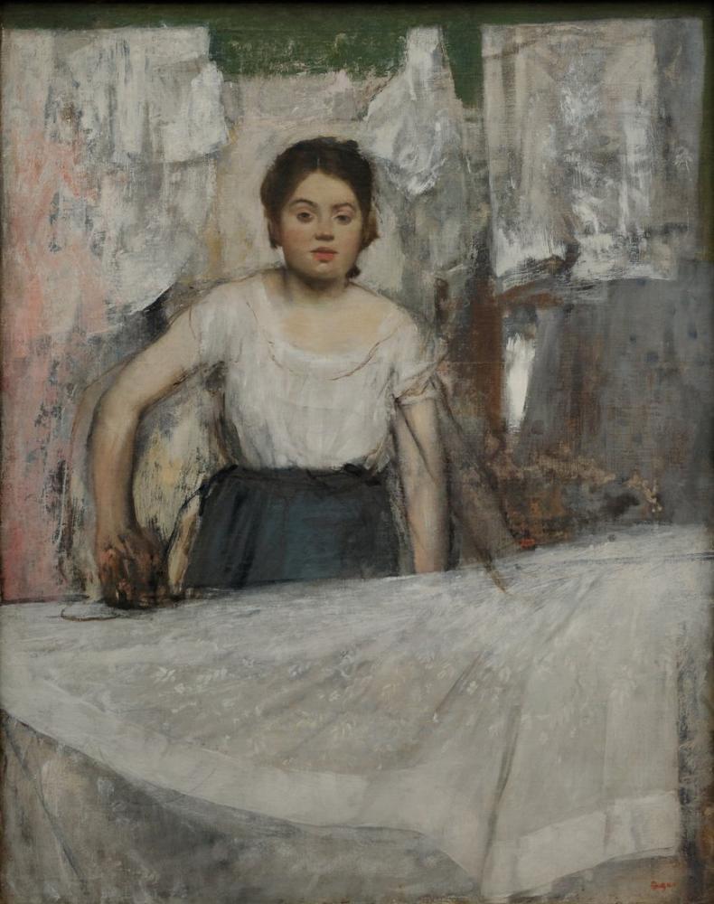 Edgar Degas Kadın Ütüleme II, Kanvas Tablo, Edgar Degas, kanvas tablo, canvas print sales