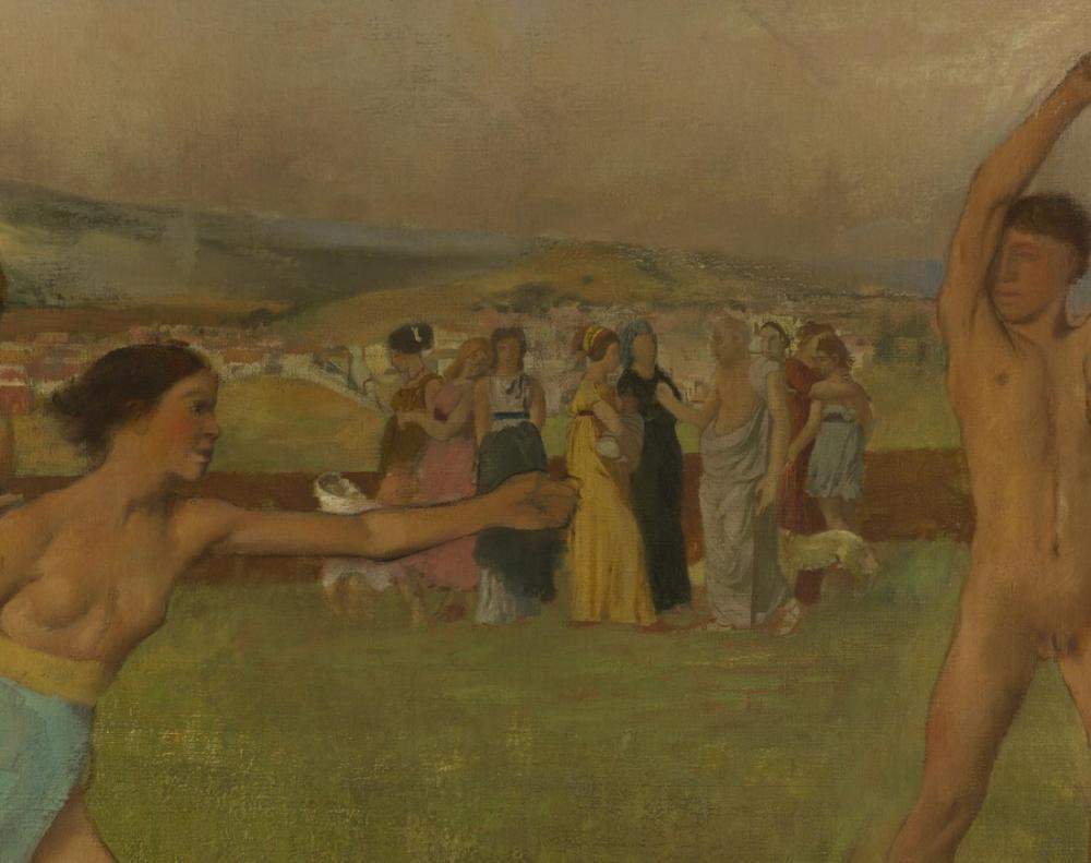 Edgar Degas Genç Spartalılar Detay, Kanvas Tablo, Edgar Degas, kanvas tablo, canvas print sales