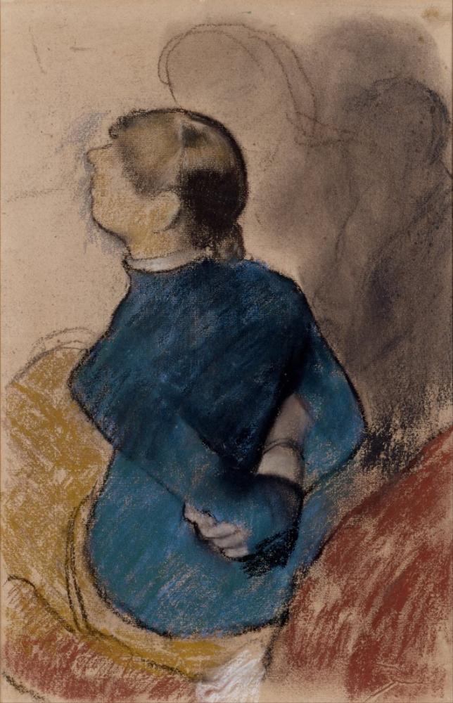 Edgar Degas Mavili Genç Kadın, Kanvas Tablo, Edgar Degas, kanvas tablo, canvas print sales