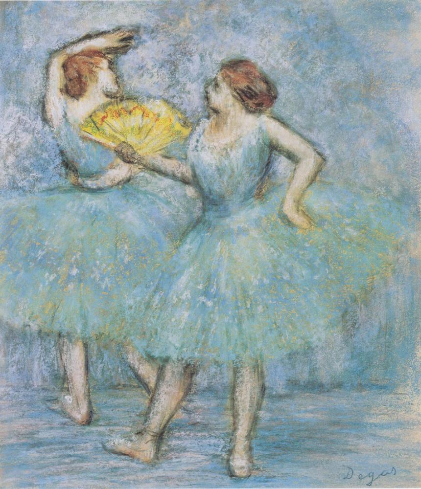 Edgar Degas İki Dansçı, Kanvas Tablo, Edgar Degas, kanvas tablo, canvas print sales