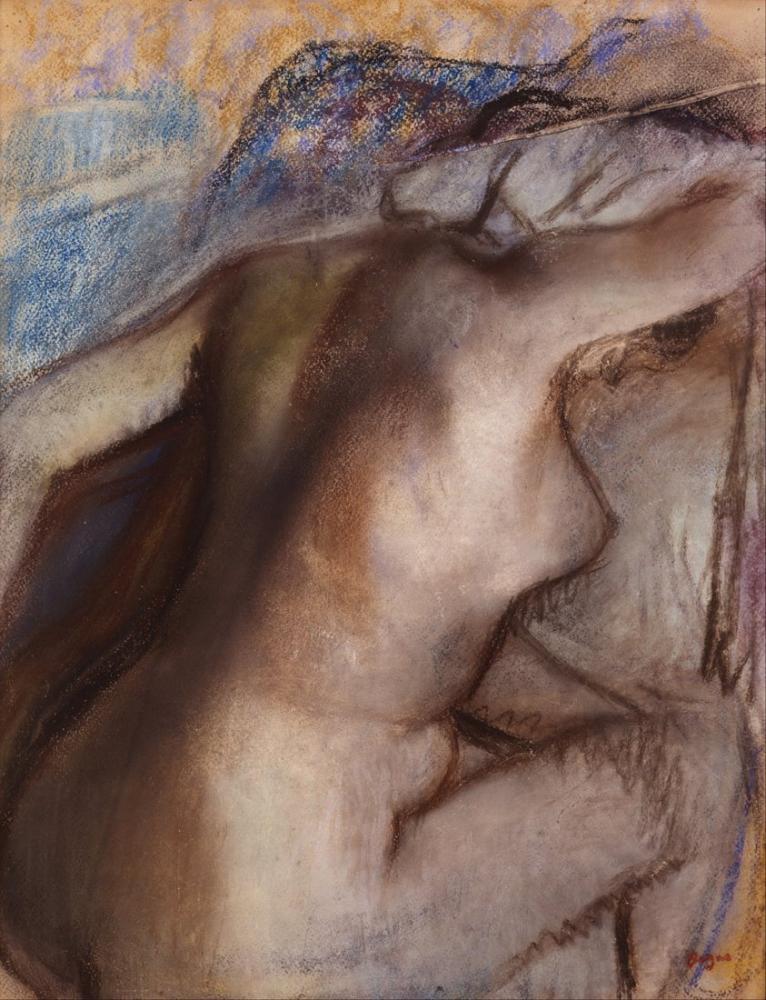 Edgar Degas Banyodan Sonra Kadın Kendini Kurutuyor, Kanvas Tablo, Edgar Degas, kanvas tablo, canvas print sales