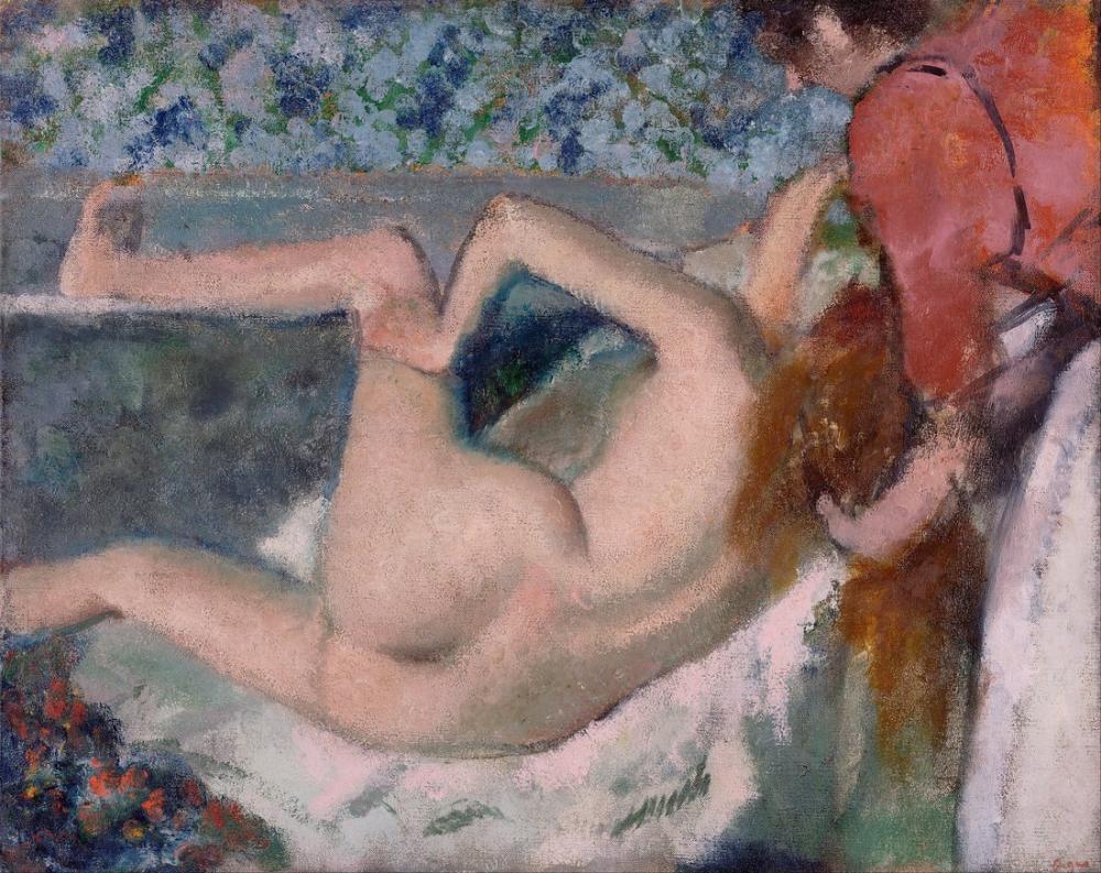 Edgar Degas Banyodan Sonra II, Kanvas Tablo, Edgar Degas, kanvas tablo, canvas print sales