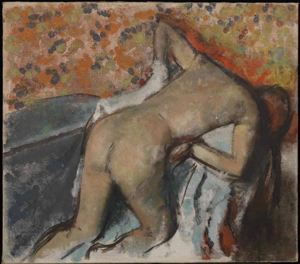 Edgar Degas Banyodan Sonra Kadın Kendini Kuruyor, Kanvas Tablo, Edgar Degas, kanvas tablo, canvas print sales