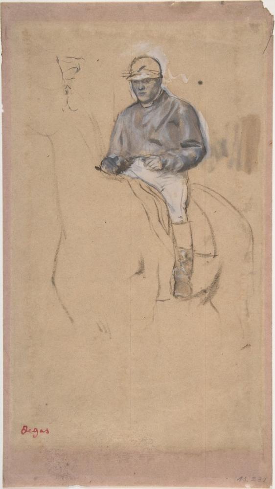 Edgar Degas A Jockey On His Horse, Canvas, Edgar Degas, kanvas tablo, canvas print sales