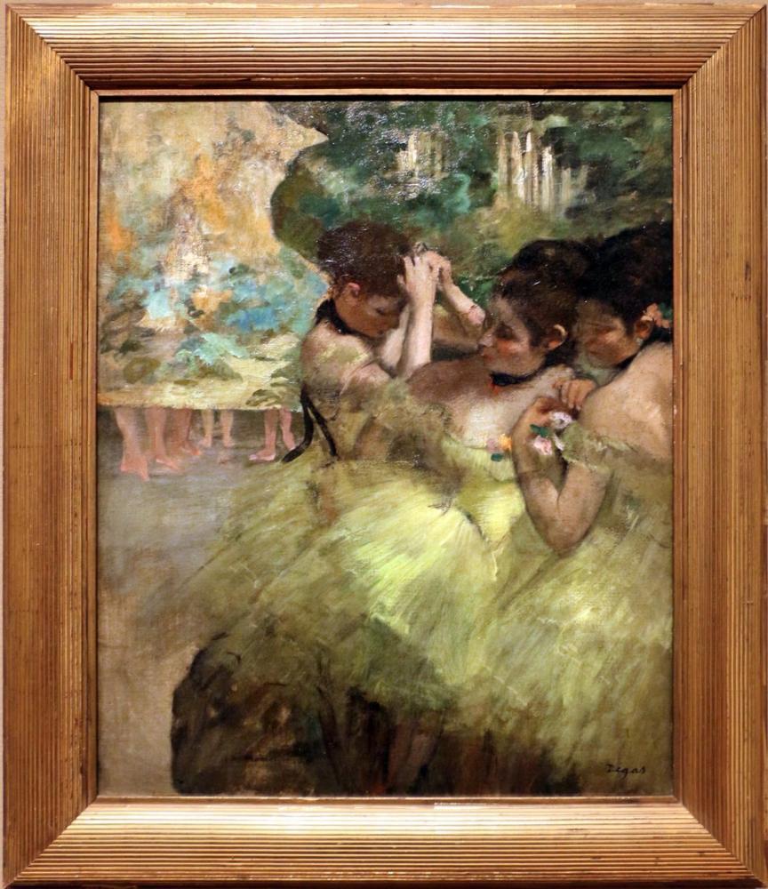 Edgar Degas Ballerine Gialle Nelle Ali, Canvas, Edgar Degas, kanvas tablo, canvas print sales