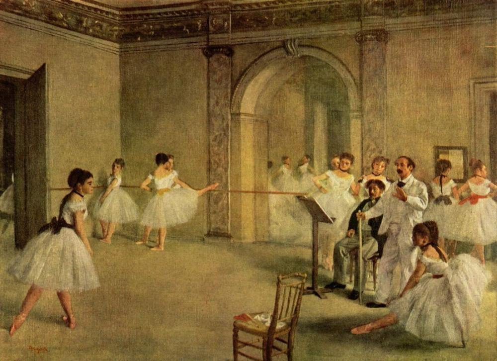 Edgar Degas Ballet Hall Of The Opera In The Rue Peletier, Canvas, Edgar Degas, kanvas tablo, canvas print sales