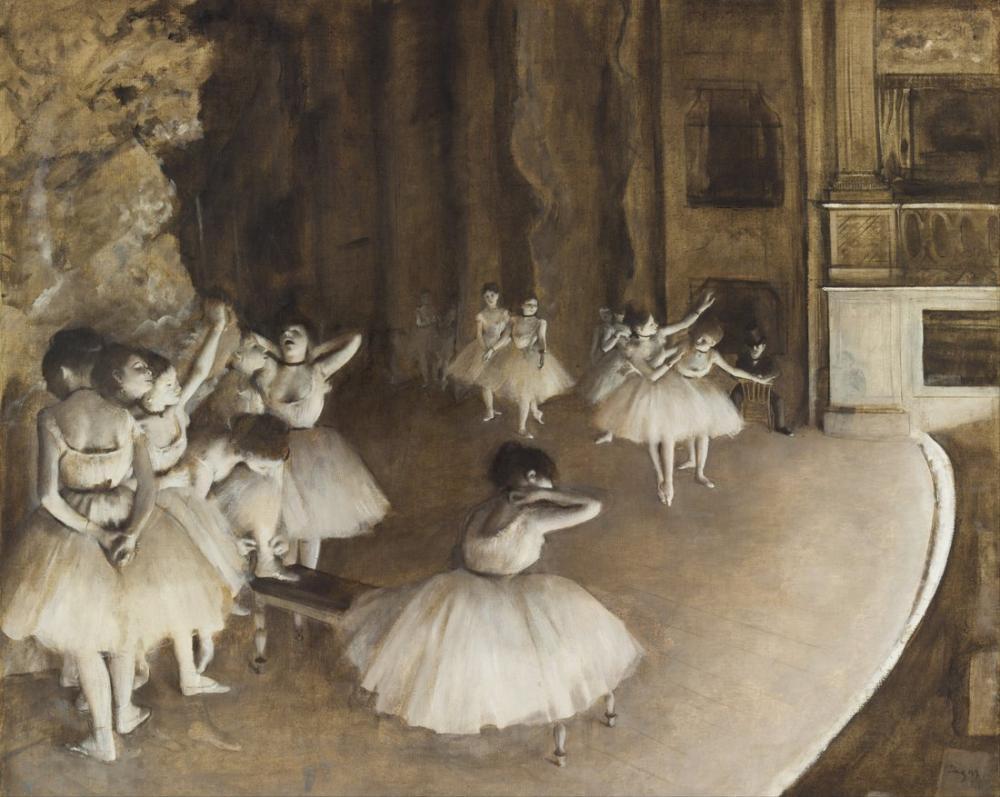 Edgar Degas Sahnede Bale Provası, Kanvas Tablo, Edgar Degas, kanvas tablo, canvas print sales
