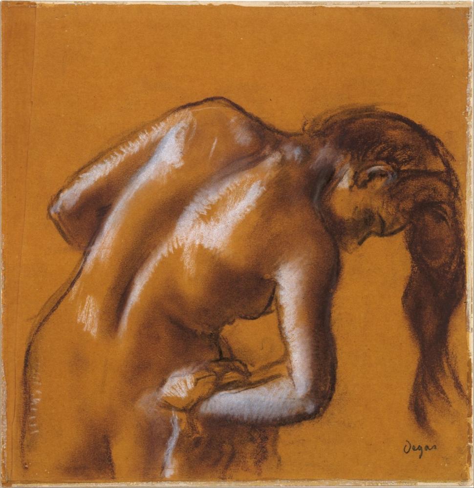 Edgar Degas Bather Drying Herself DT, Canvas, Edgar Degas, kanvas tablo, canvas print sales