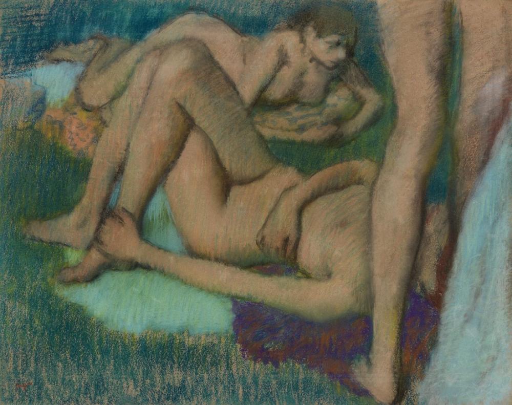 Edgar Degas Yıkananlar Barnes Vakfı, Kanvas Tablo, Edgar Degas, kanvas tablo, canvas print sales