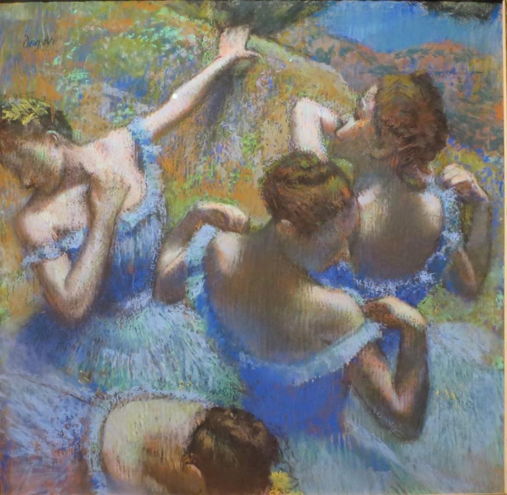 Edgar Degas Mavi Dansçılar, Kanvas Tablo, Edgar Degas, kanvas tablo, canvas print sales