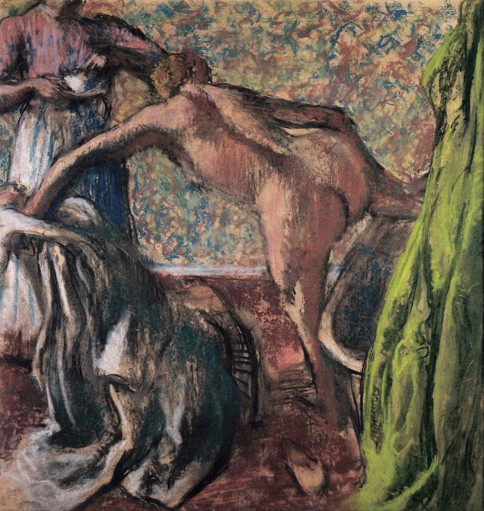 Edgar Degas Breakfast After The Bath The Bath, Canvas, Edgar Degas, kanvas tablo, canvas print sales