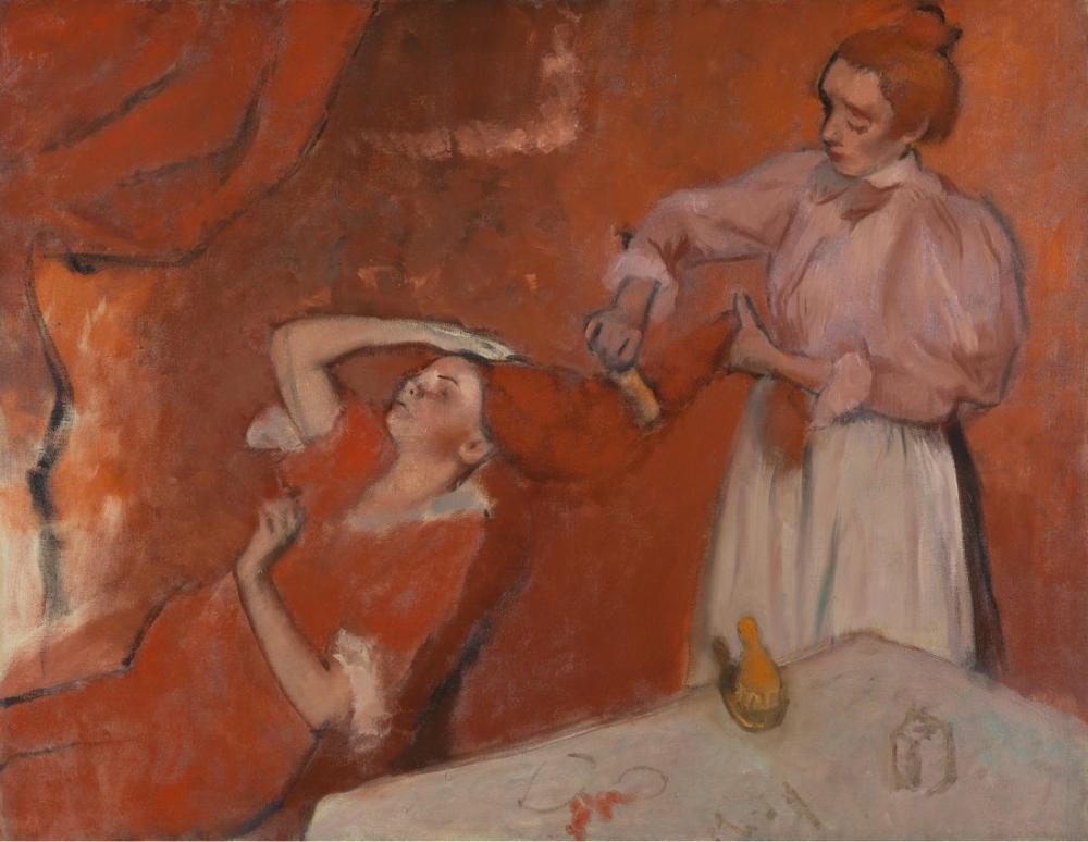 Edgar Degas Combing The Hair, Canvas, Edgar Degas, kanvas tablo, canvas print sales