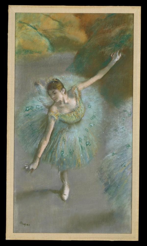 Edgar Degas Dancer In Green CT, Canvas, Edgar Degas, kanvas tablo, canvas print sales