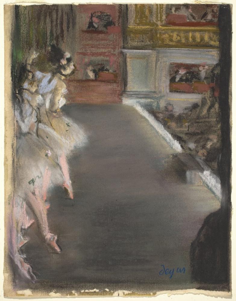 Edgar Degas Dancers At The Old Opera House Drawing, Canvas, Edgar Degas, kanvas tablo, canvas print sales