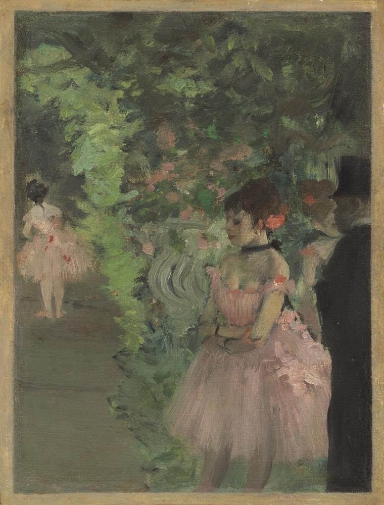 Edgar Degas Dancers Backstage, Canvas, Edgar Degas, kanvas tablo, canvas print sales