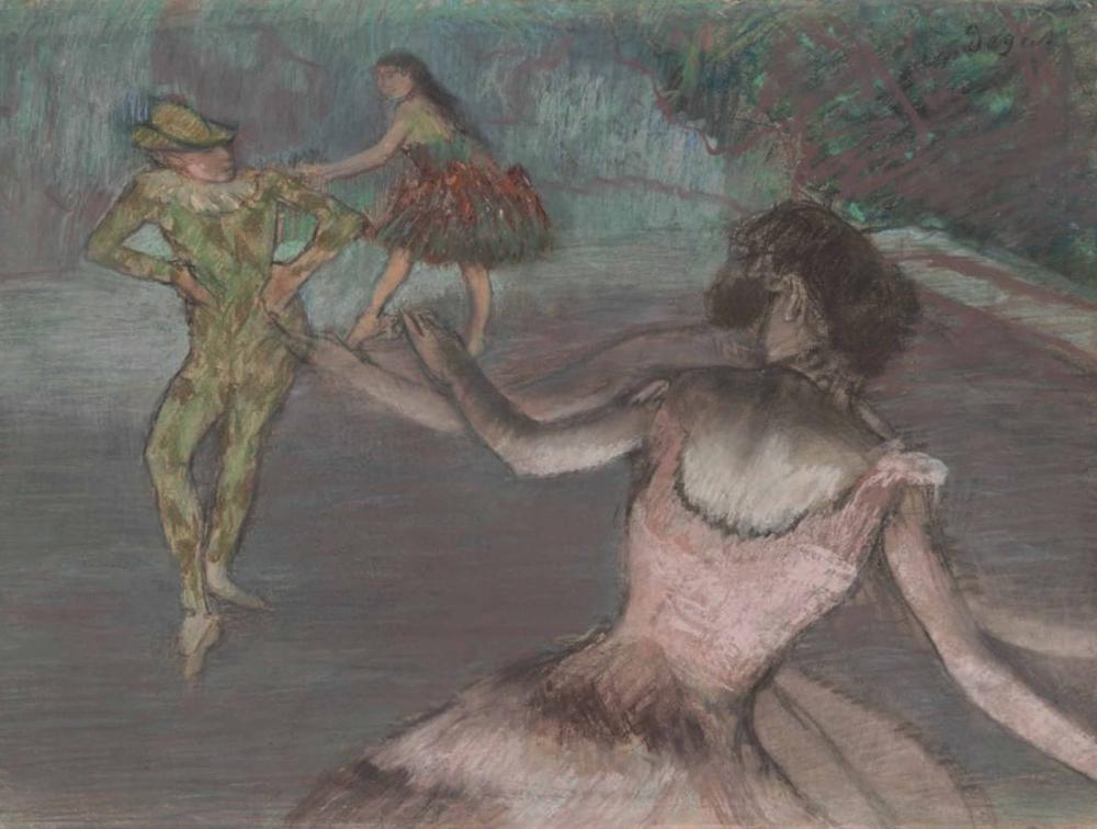 Edgar Degas Arlequin Et Danseuses, Canvas, Edgar Degas, kanvas tablo, canvas print sales