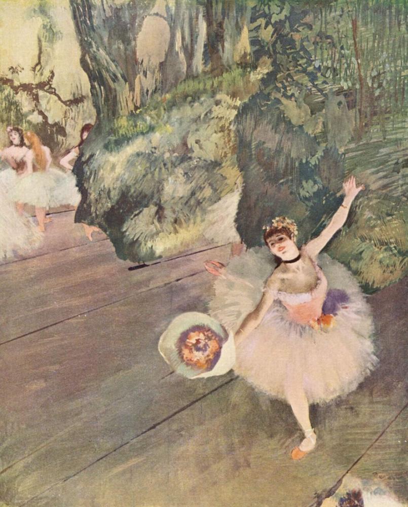 Edgar Degas Dancer Taking A Bow, Canvas, Edgar Degas, kanvas tablo, canvas print sales