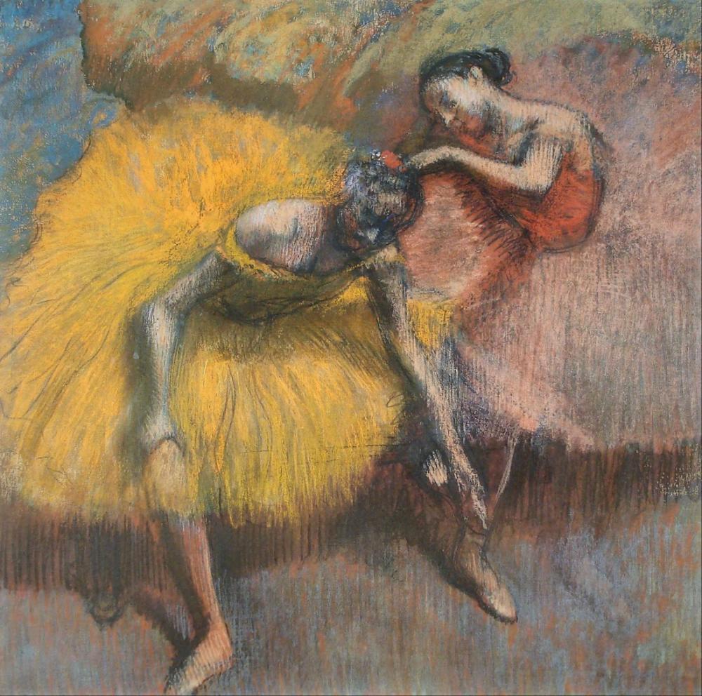 Edgar Degas Deux Danseuses Jaunes Et Roses, Canvas, Edgar Degas, kanvas tablo, canvas print sales