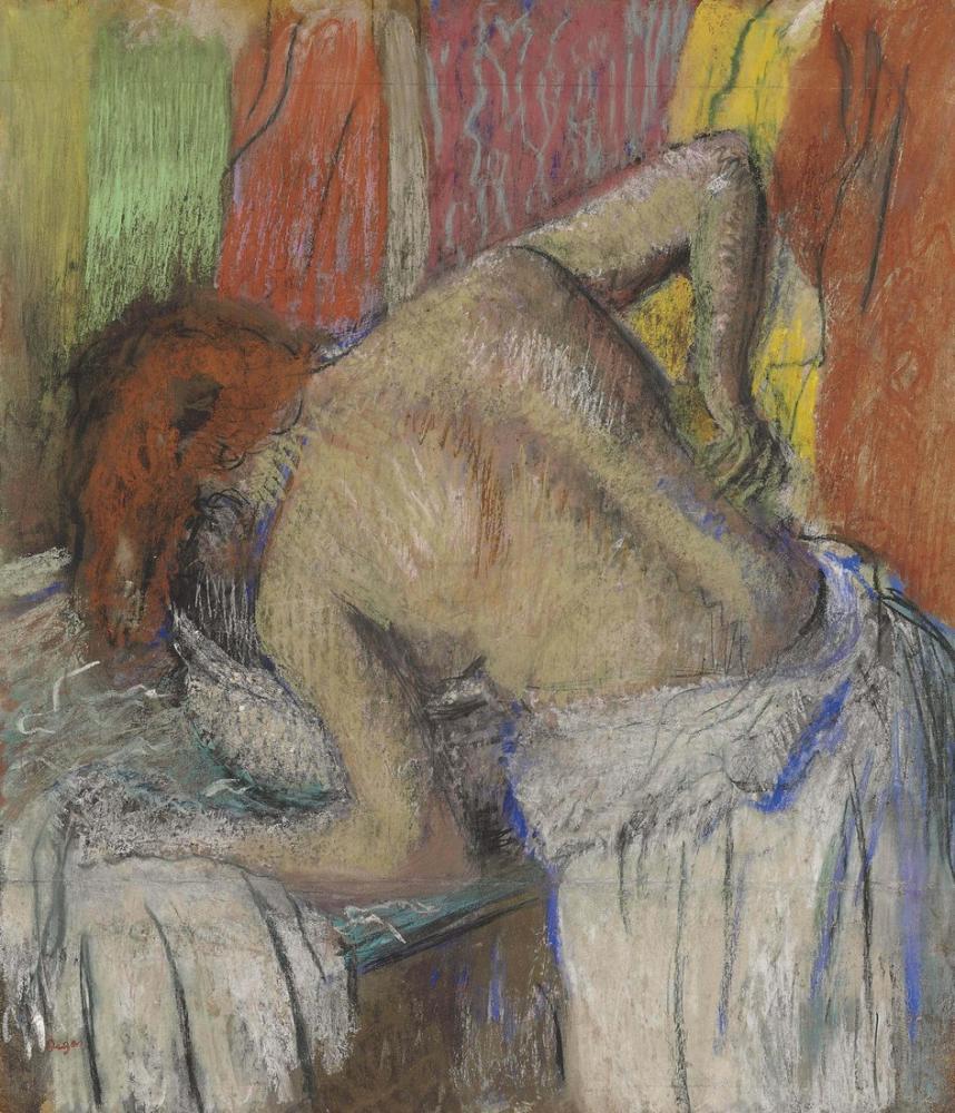 Edgar Degas Femme Sepongeant Le Dos Christie, Canvas, Edgar Degas, kanvas tablo, canvas print sales